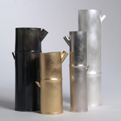 Chien-Wei Chang, Bamboo Water Cans, silver