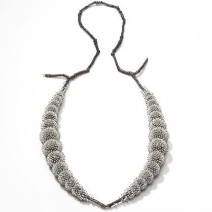 Sam-Tho Duong, Frozen, necklace, silver, pearls